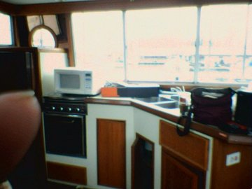 Looking out at the galley